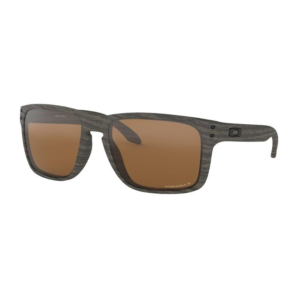 Oakley Men's Holbrook Polarized Sunglasses, Woodgrain, XL