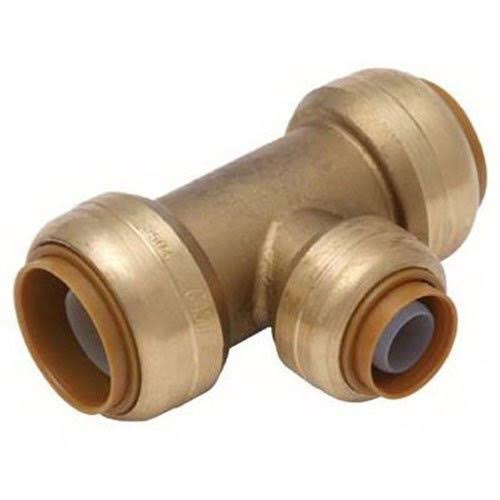 "Cash Acme U412LFA Lead Free Tee Push Fit Fitting - Satin Brass, 3/4"" X 3/4"" X 1.2"""