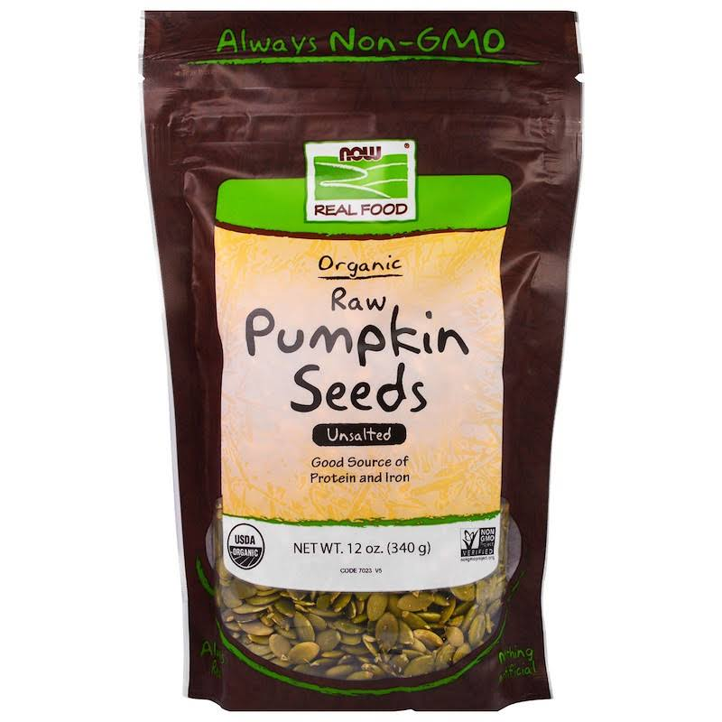 Now Foods Organic Pumpkin Seeds - 12oz, Unsalted