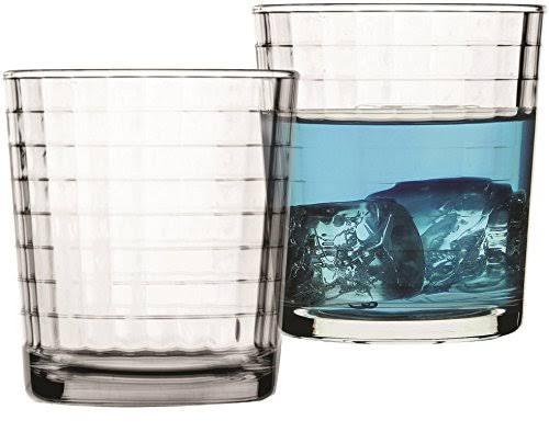 Circleware Windowpane Double Old Fashioned Whiskey Glasses - 4 x 13oz
