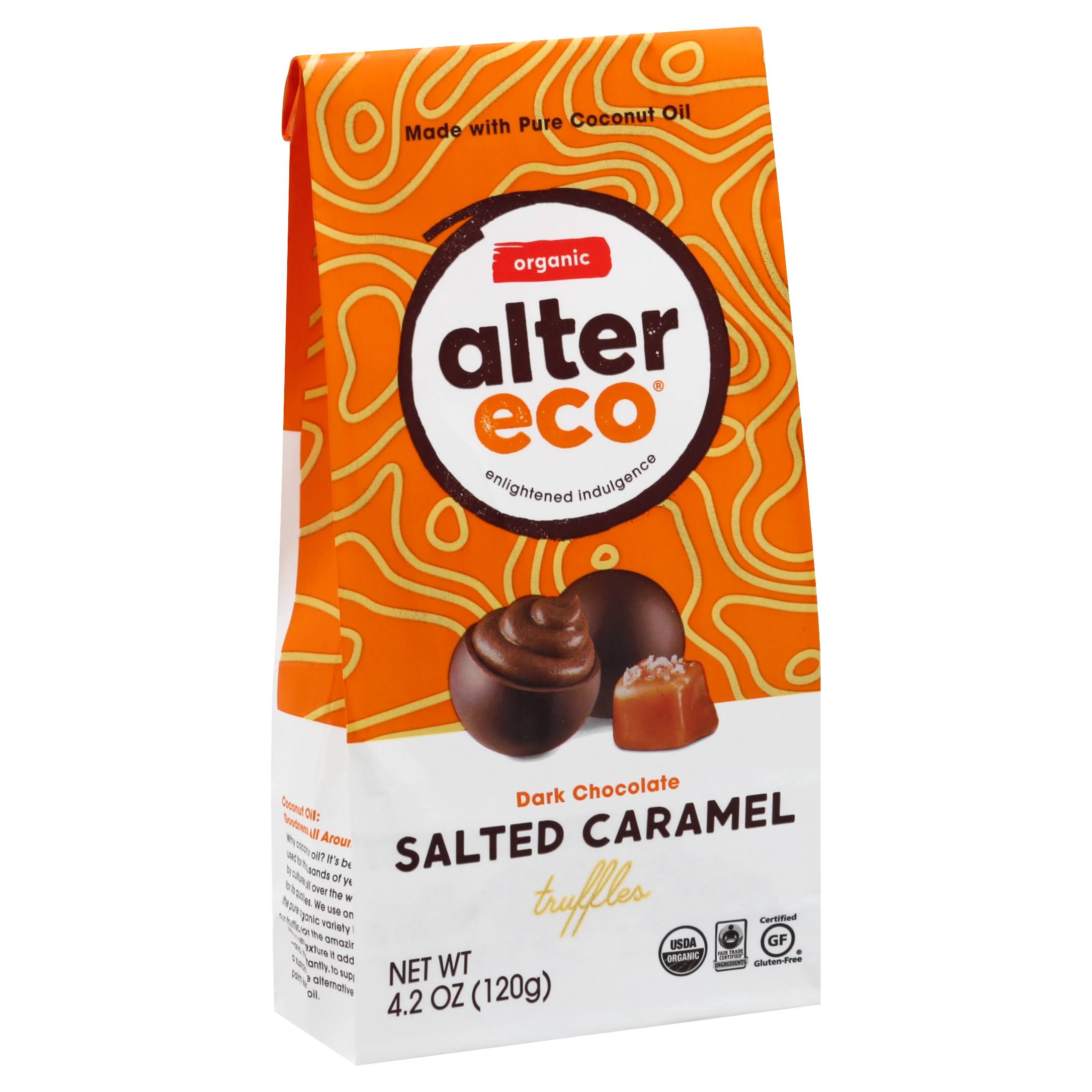 Alter Eco Organic Salted Caramel Truffle - 10 Pack, Dark Chocolate