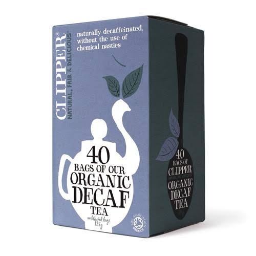 Clipper Organic Decaf Tea Unbleached Bags - 125g