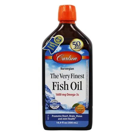 Carlson the Very Finest Fish Oil Liquid Omega-3 - Orange