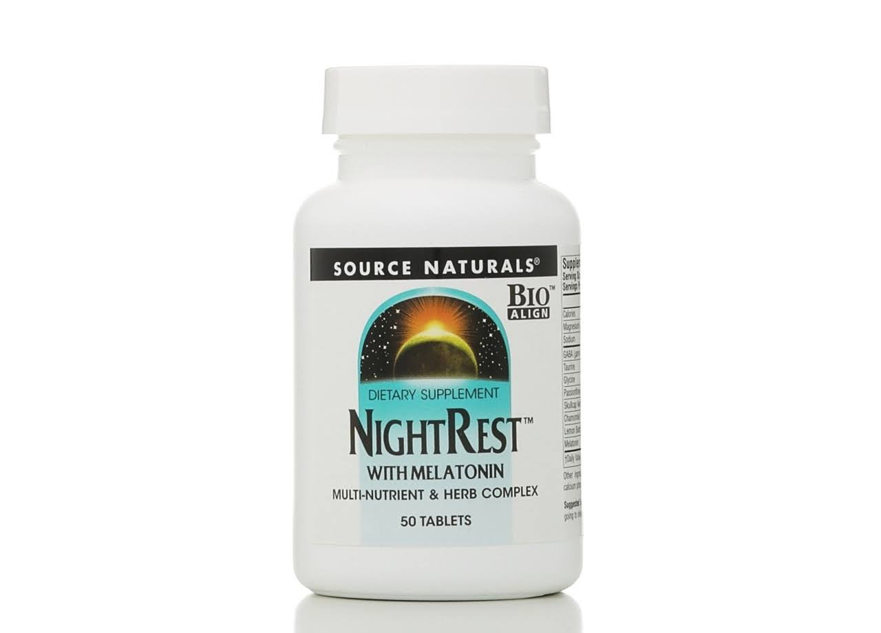 Source Naturals NightRest with Melatonin - 50 Tablets