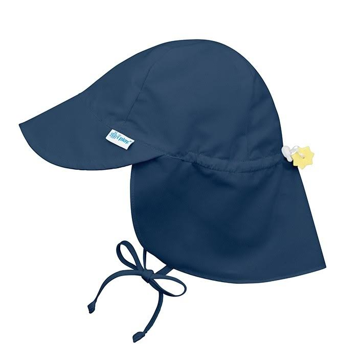 I Play. Flap Sun Protection Hat-Navy-0/6mo