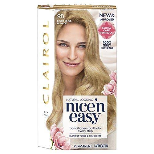 Nice'n Easy Permanent Hair Dye - 9B Light Beige Blonde
