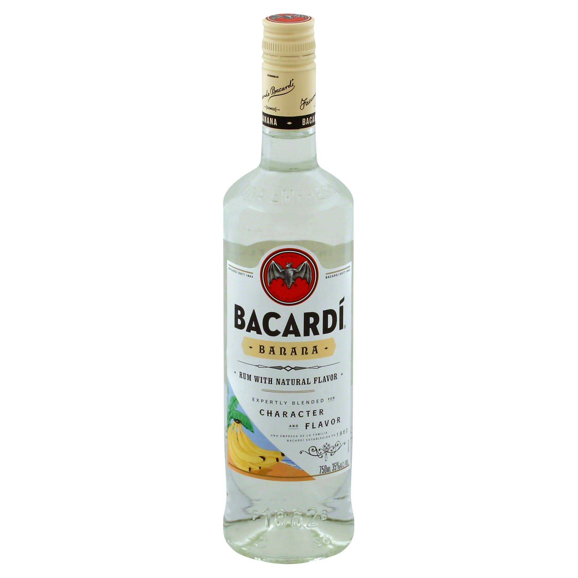 Bacardi Rum, Banana - 750 ml