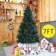 Artificial Christmas Tree 6ft by Amazon Com Goplus 7 U0027 Artificial Christmas Tree Spruce Hinged W