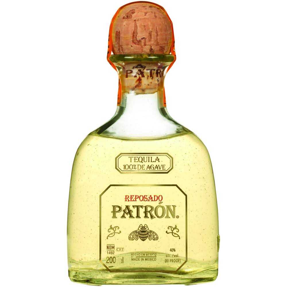 Patron Reposado Tequila - 200 ml bottle
