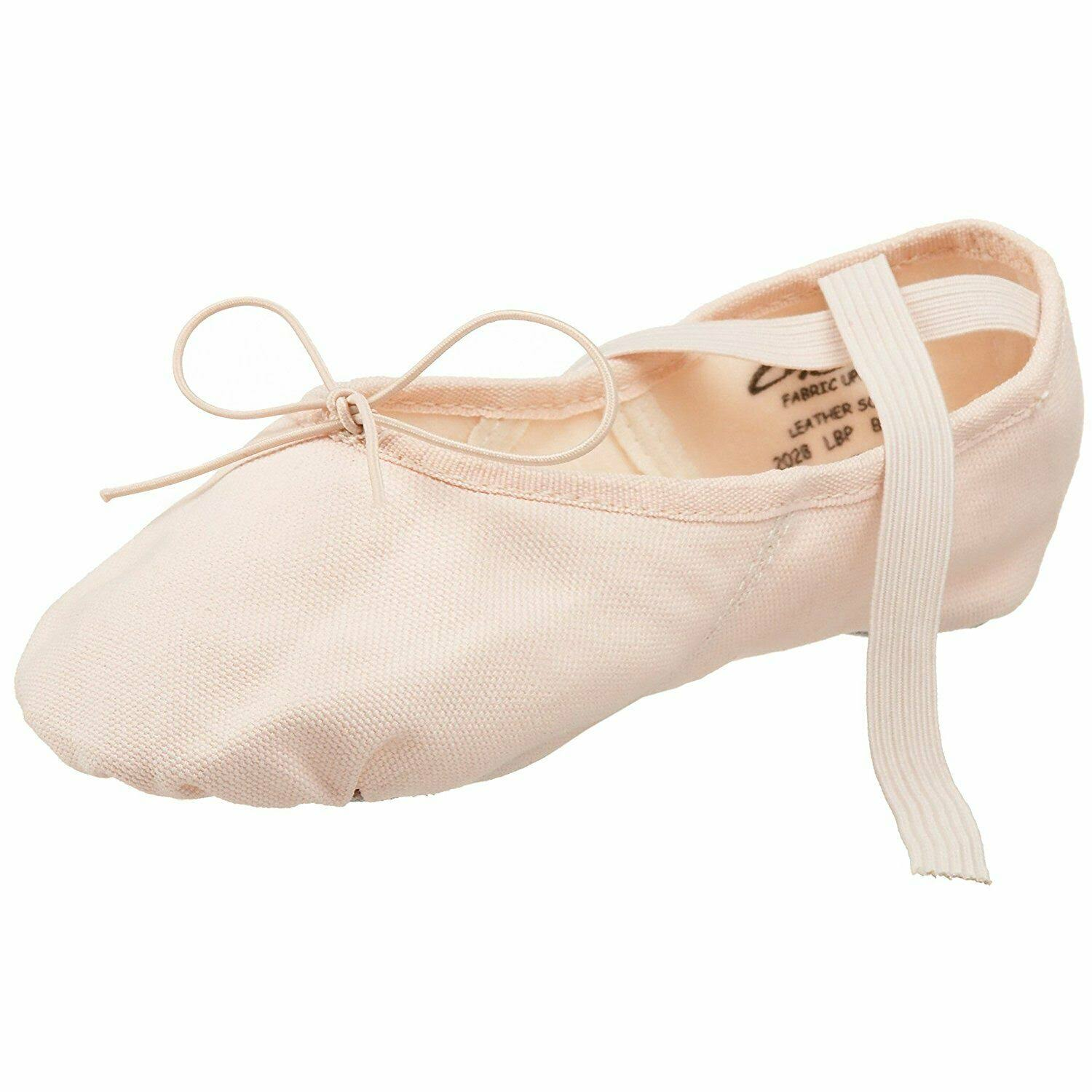 Capezio Adult Canvas Juliet Split Sole Ballet Shoe - Light Pink, 8.5 US