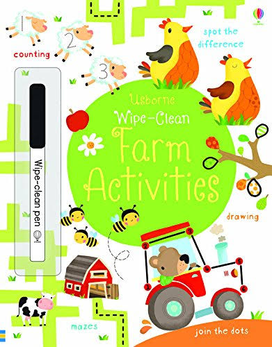 Usborne Wipe Clean Farm Activities C2015