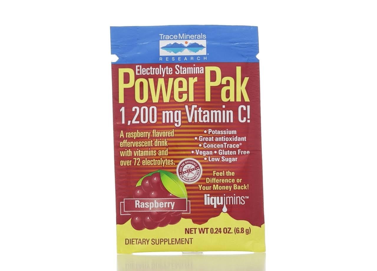 Trace Minerals - Power Pak - Raspberry Flavor - 0.18 oz.