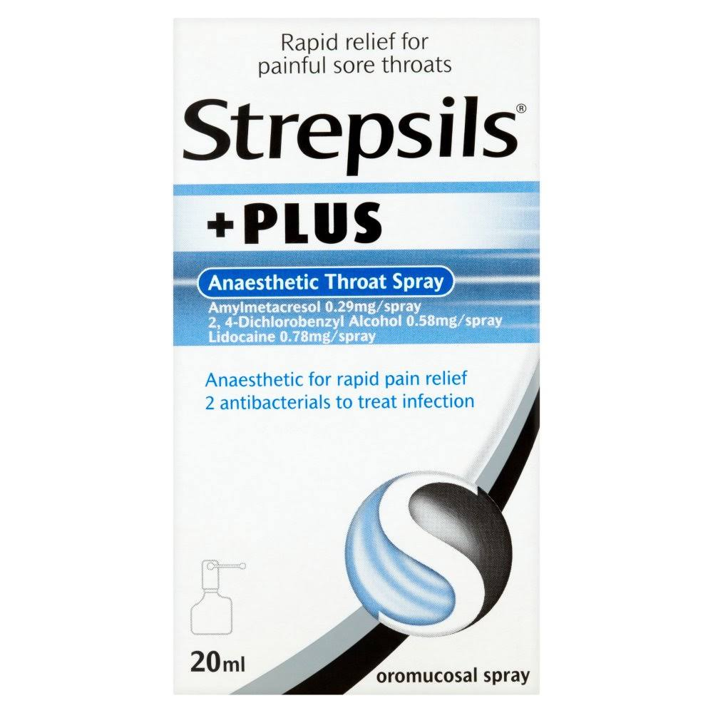 Strepsils Plus Anaesthetic Throat Spray - 20ml