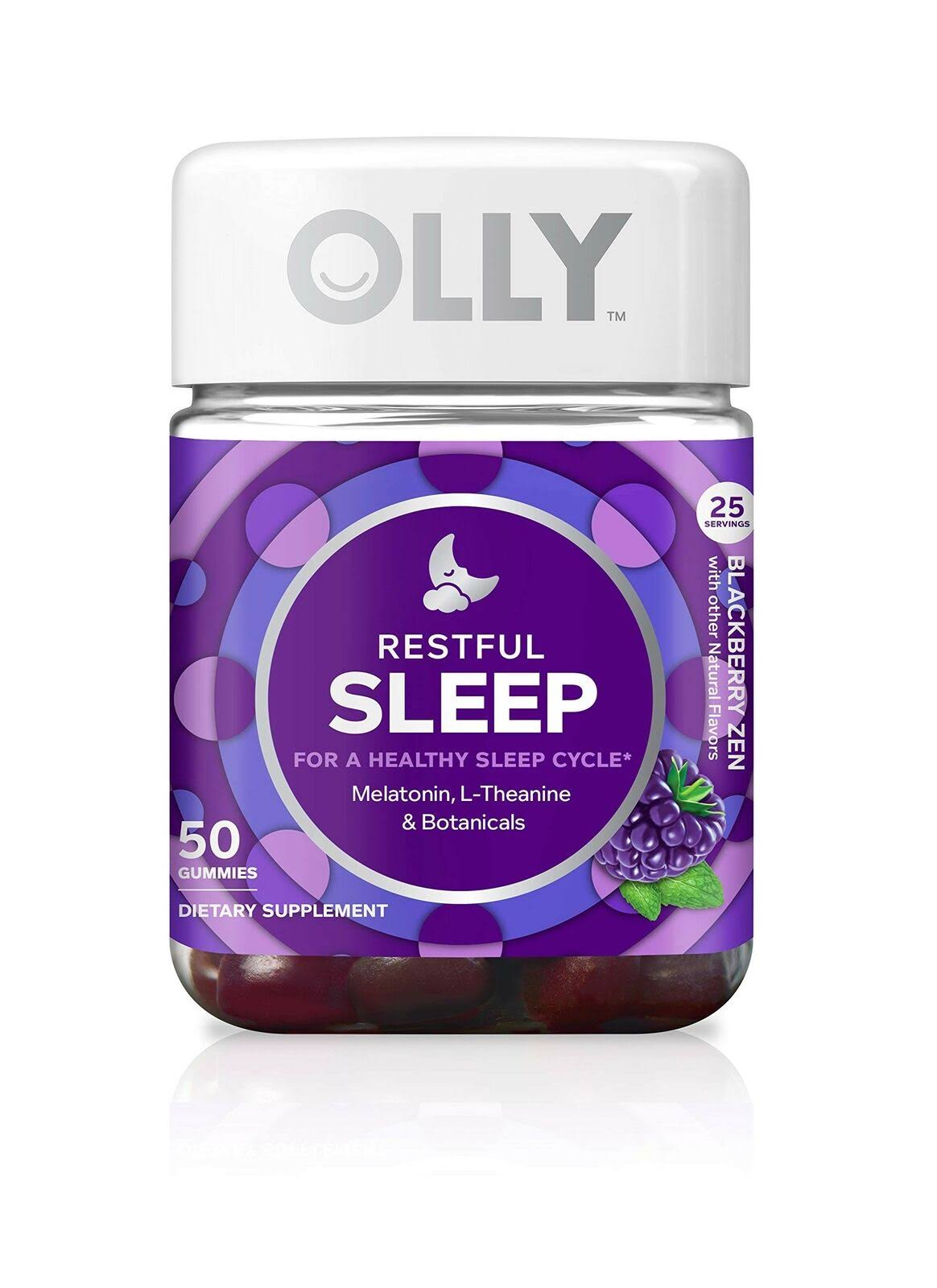 Olly Restful Sleep Gummy Supplement - Blackberry Zen, 50ct