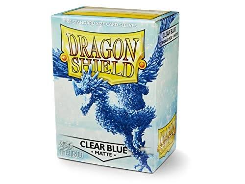 Dragon Shield Card Sleeve - Matte Clear Blue, 100pcs
