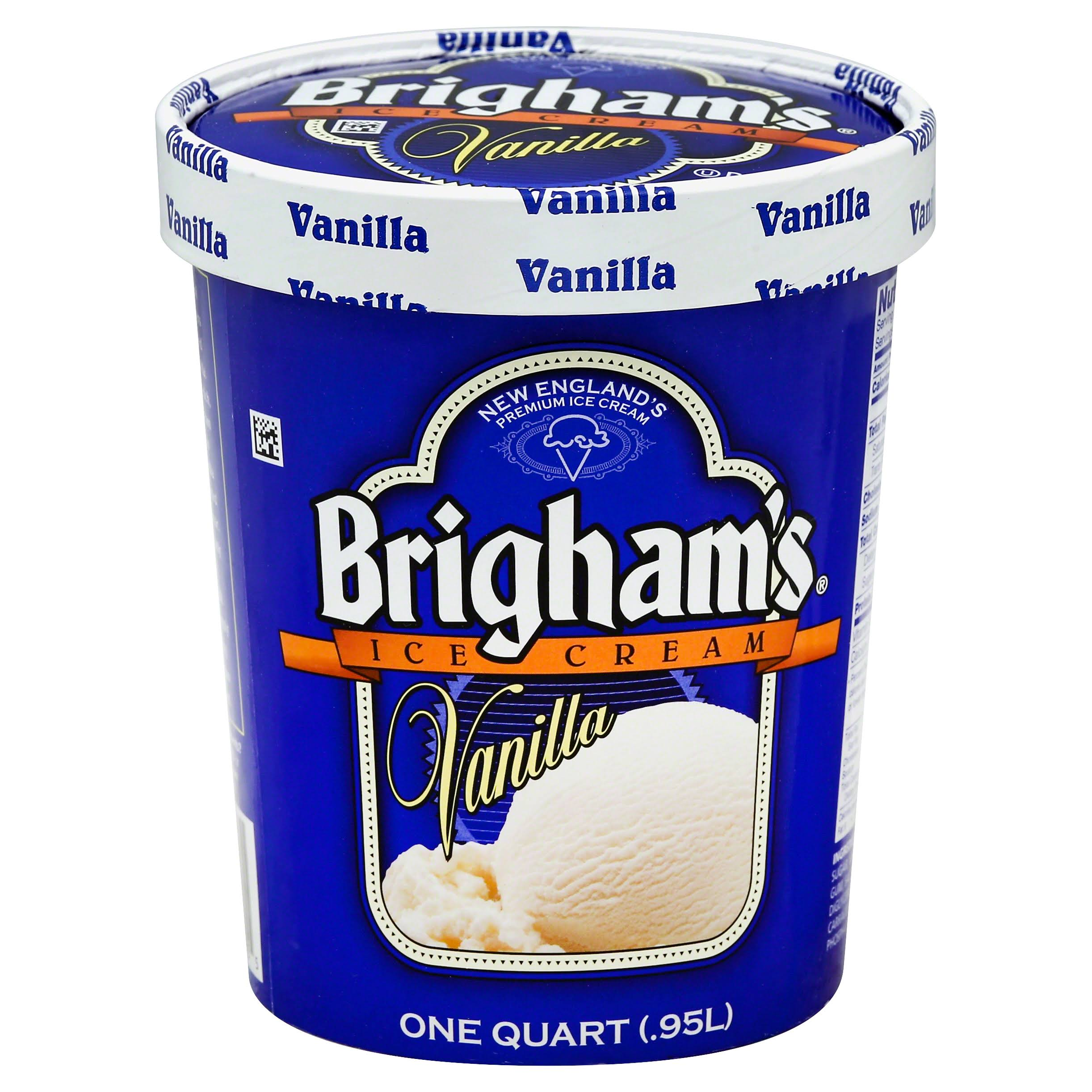Brighams Ice Cream, Vanilla - 1 qt