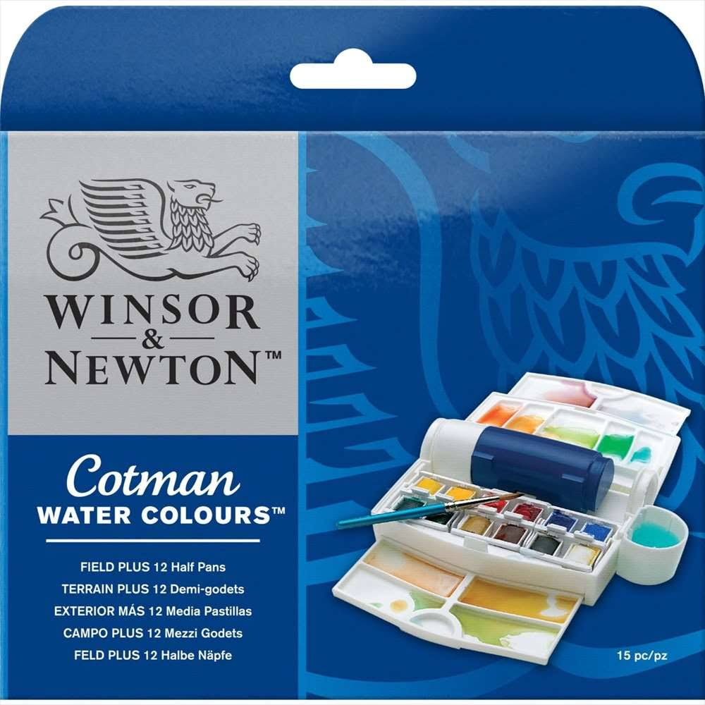 Winsor & Newton Cotman Water Colour Field Plus Paint Set