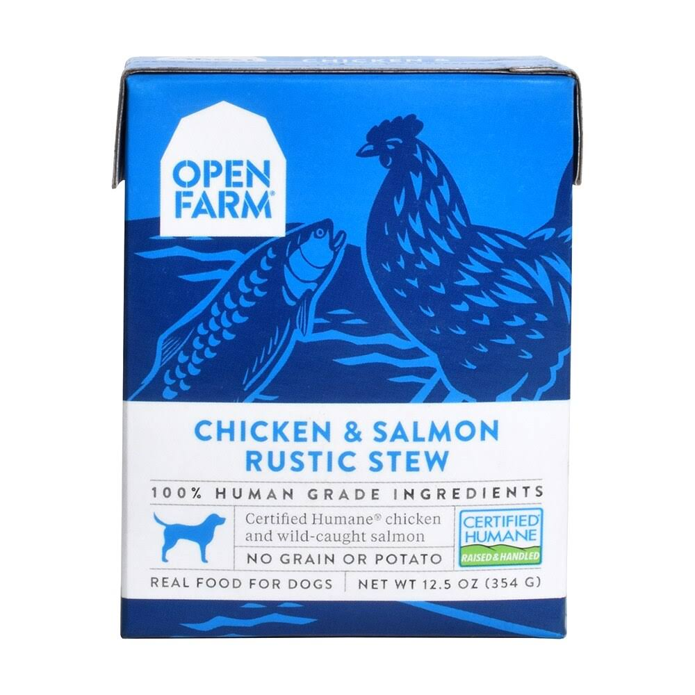 Open Farm Chicken & Salmon Rustic Stew Wet Dog Food 12.5oz