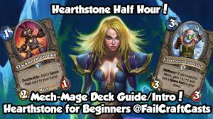 Hearthstone Beginner Decks Mage by Hearthstone Mech Mage Deck Intro Guide Goblins Vs Gnomes