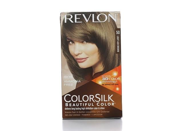 Revlon Colorsilk Beautiful Color Permanent Hair Color - 50 Light Ash Brown