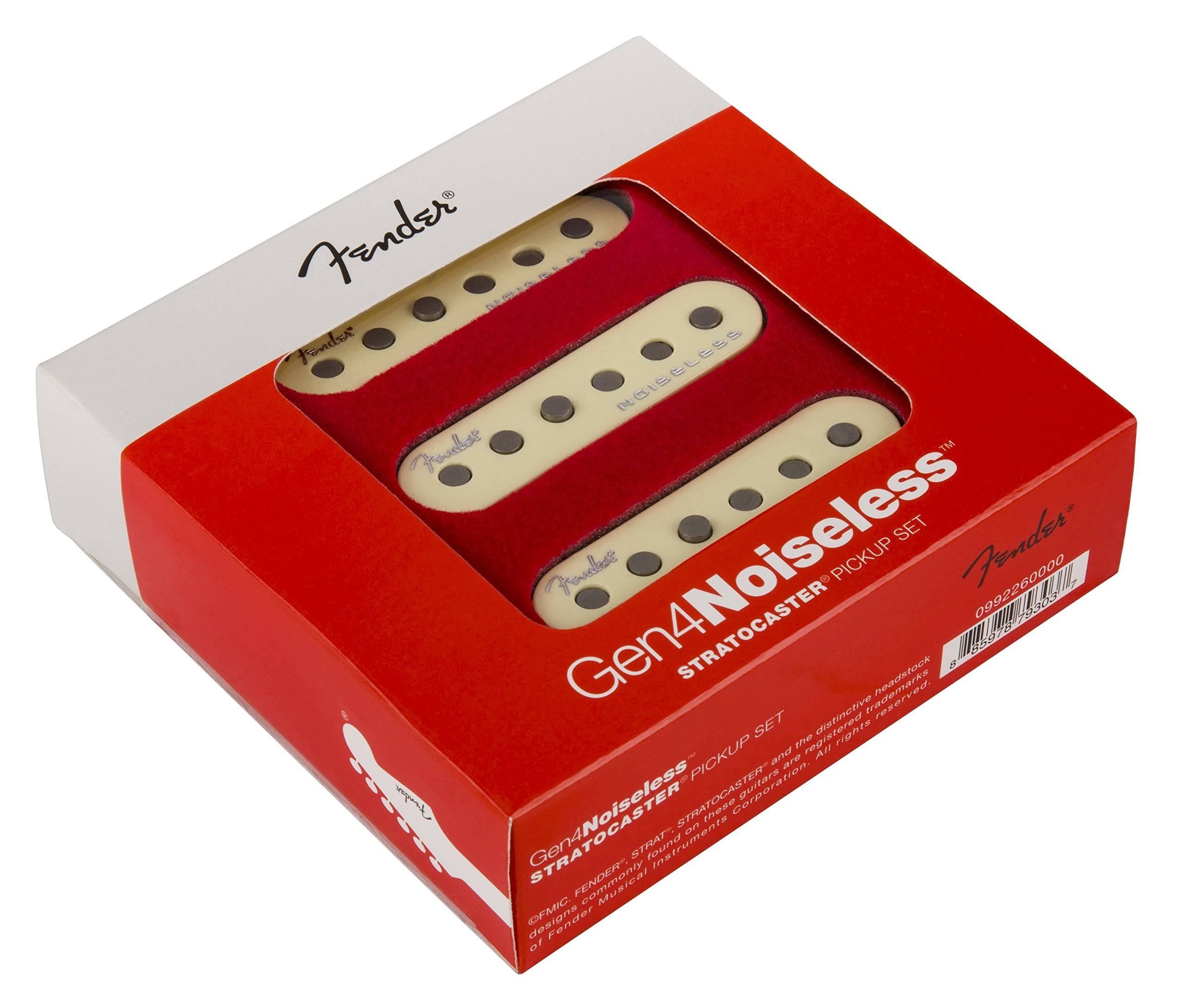 Fender Gen 4 Noiseless Stratocaster Pickups - Set Of 3, Aged White