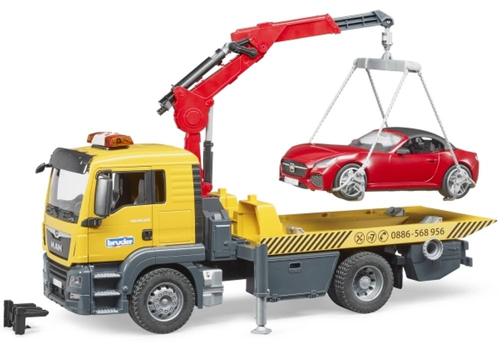 Bruder 03750 - Man TGS Tow Truck with Roadster