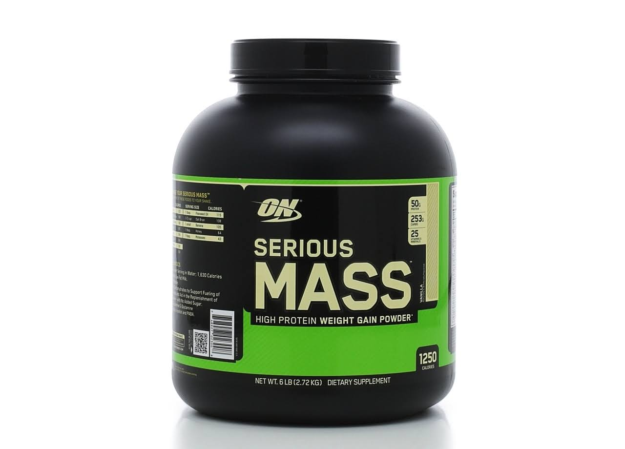Optimum Nutrition Serious Mass Powder Supplement - Vanilla Flavour, 2.73kg