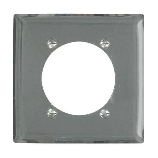 Pass & Seymour S3863C Metal Wall Plate - Chrome, 2-Gang