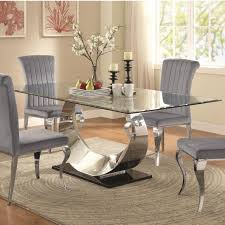 Value City Kitchen Table Sets by Coaster Manessier Contemporary Glass Dining Table Value City