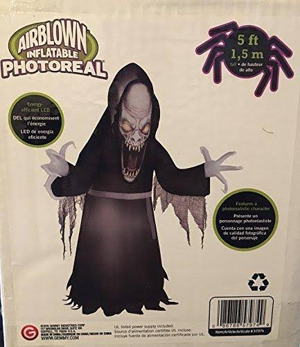 Gemmy Halloween Inflatable Vicious Vampire Ghoul Photorealistic Airblown
