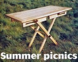 folding picnic table plans u2022 woodarchivist
