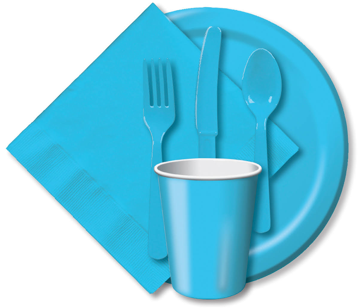 Creative Converting Luncheon Plates - Light Blue, 7""
