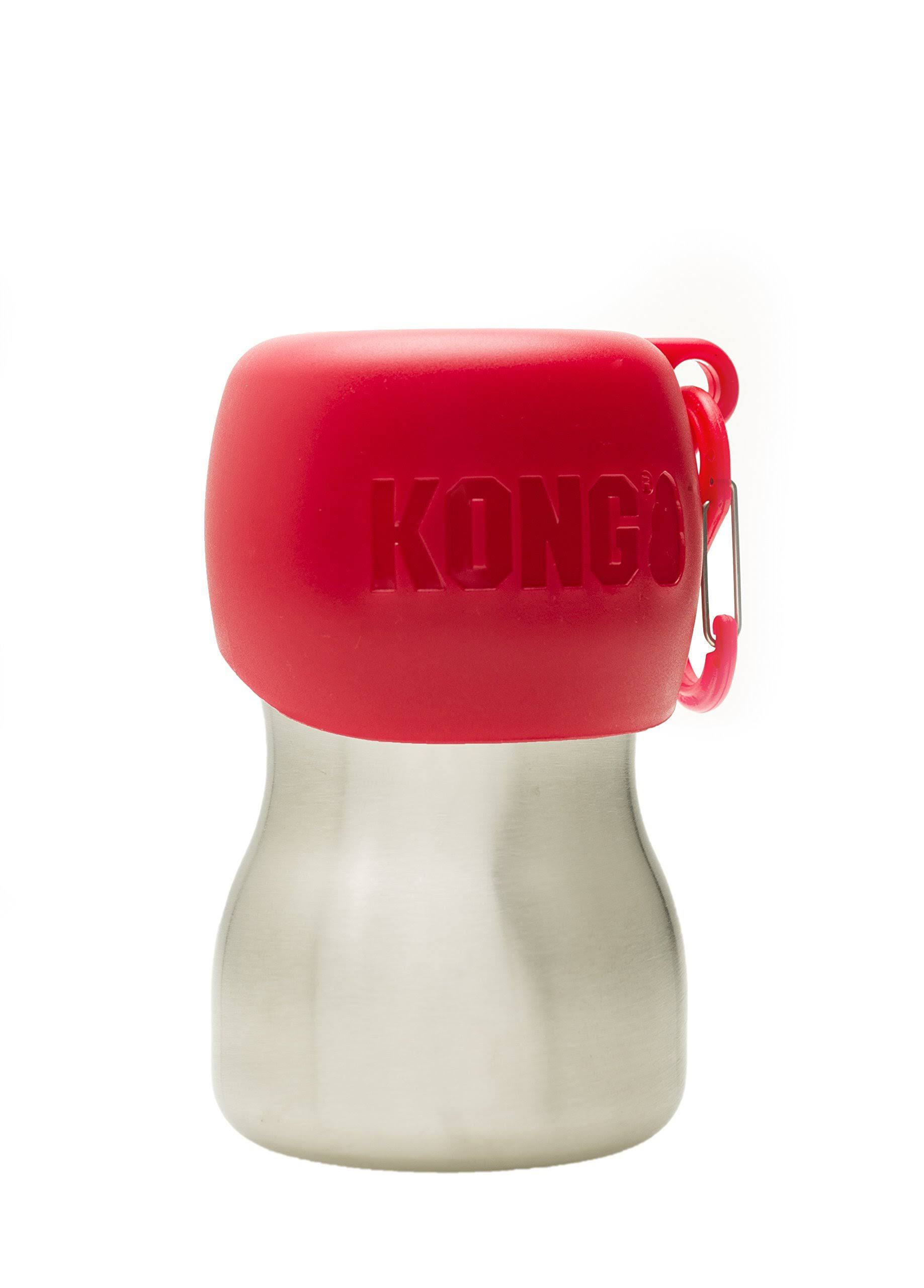 Kong - 9.5 oz Stainless Steel Dog Water Bottle - Red