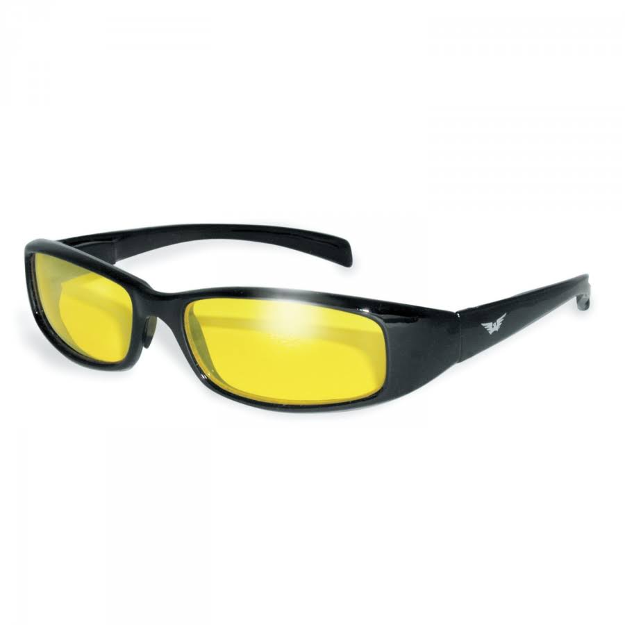 Global Vision Eyewear New Attitude Sunglasses, Yellow, Yellow
