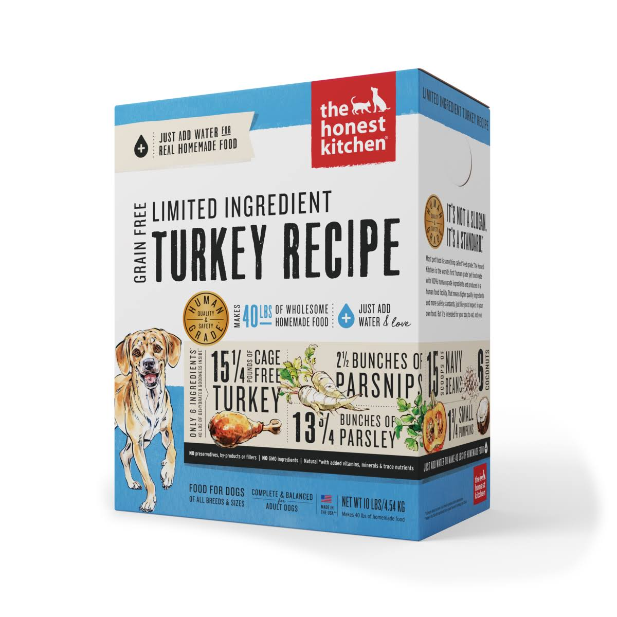 The Honest Kitchen Marvel Adult Dog Dry Food - Turkey & Parsnip, 10lb
