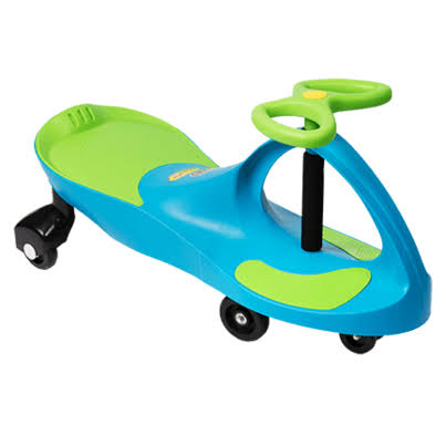 Plasmacar Ride-on Toy - Aqua Blue/Lime Green