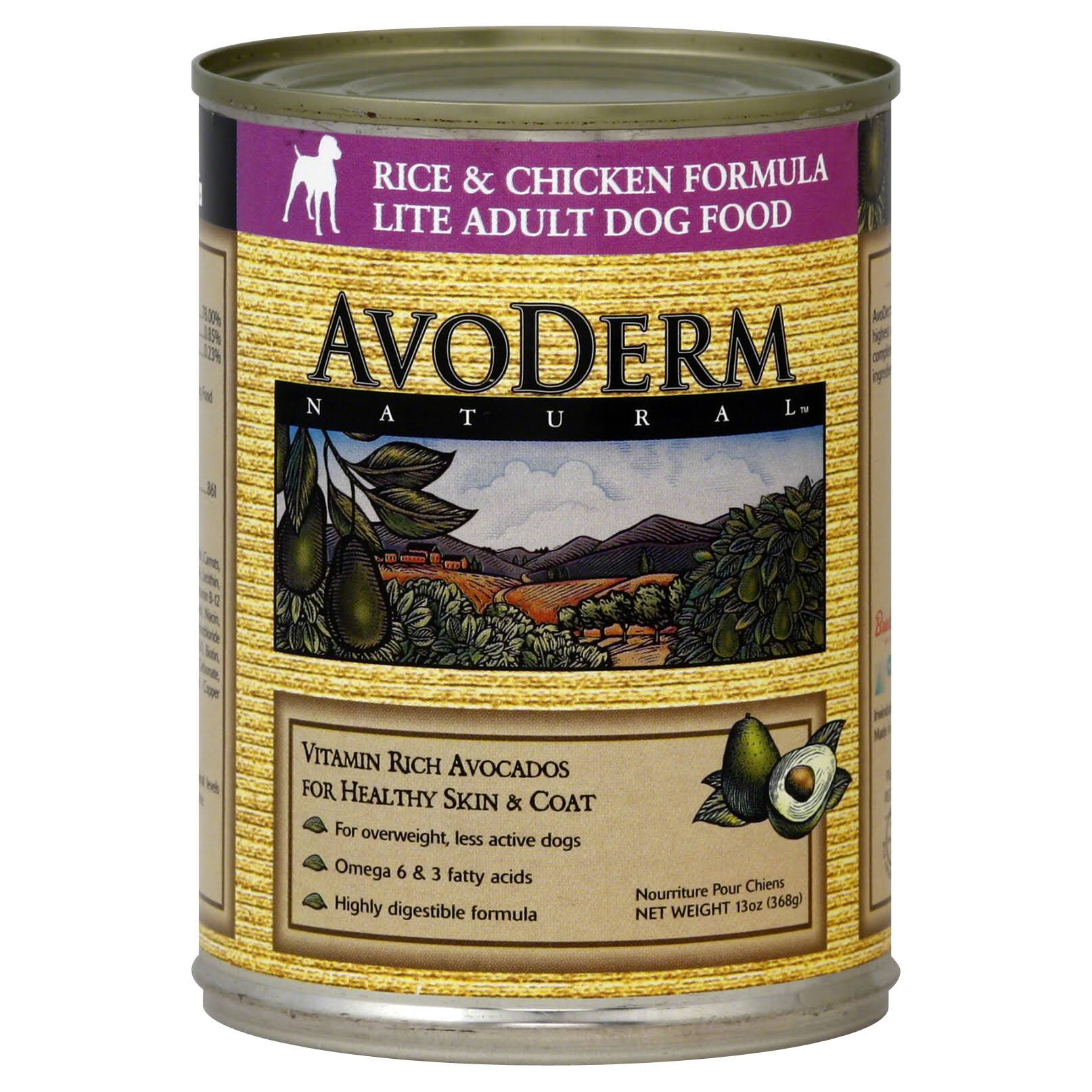 AvoDerm Rice and Chicken Formula Weight Control Dog Food - 13oz