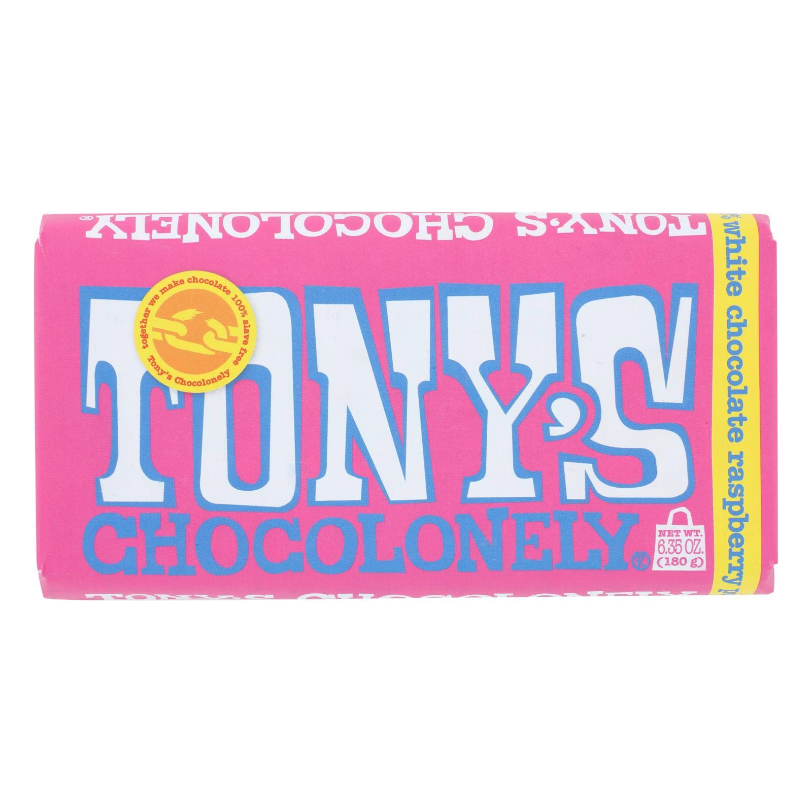 Tony's Chocolonely White Chocolate - with Raspberry, 180g