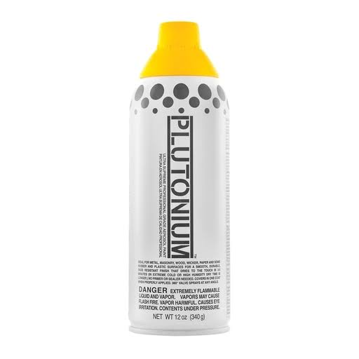 Plutonium 20030us Ultra Supreme Professional Aerosol Paint - Sunflower Yellow, 12oz