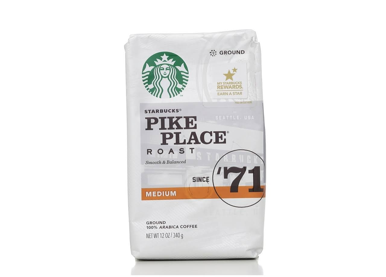 Starbucks Pike Place Roast Medium Ground 100% Arabica Coffee - 12oz