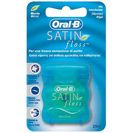 Oral-B Satin Dental Floss - 25m, Mint