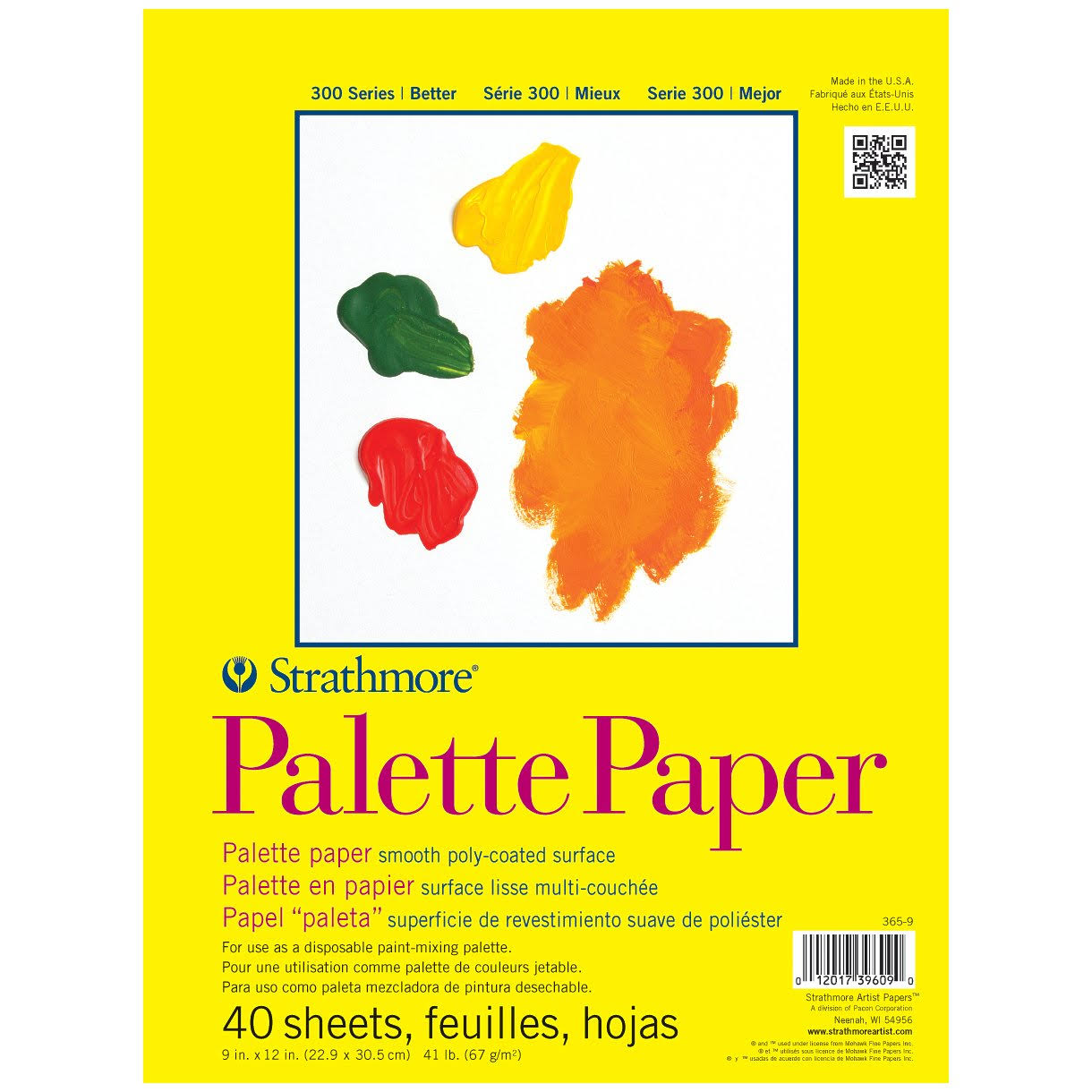 Strathmore Palette Paper Pad - 9in x 12in, 41lb, 40 Sheets
