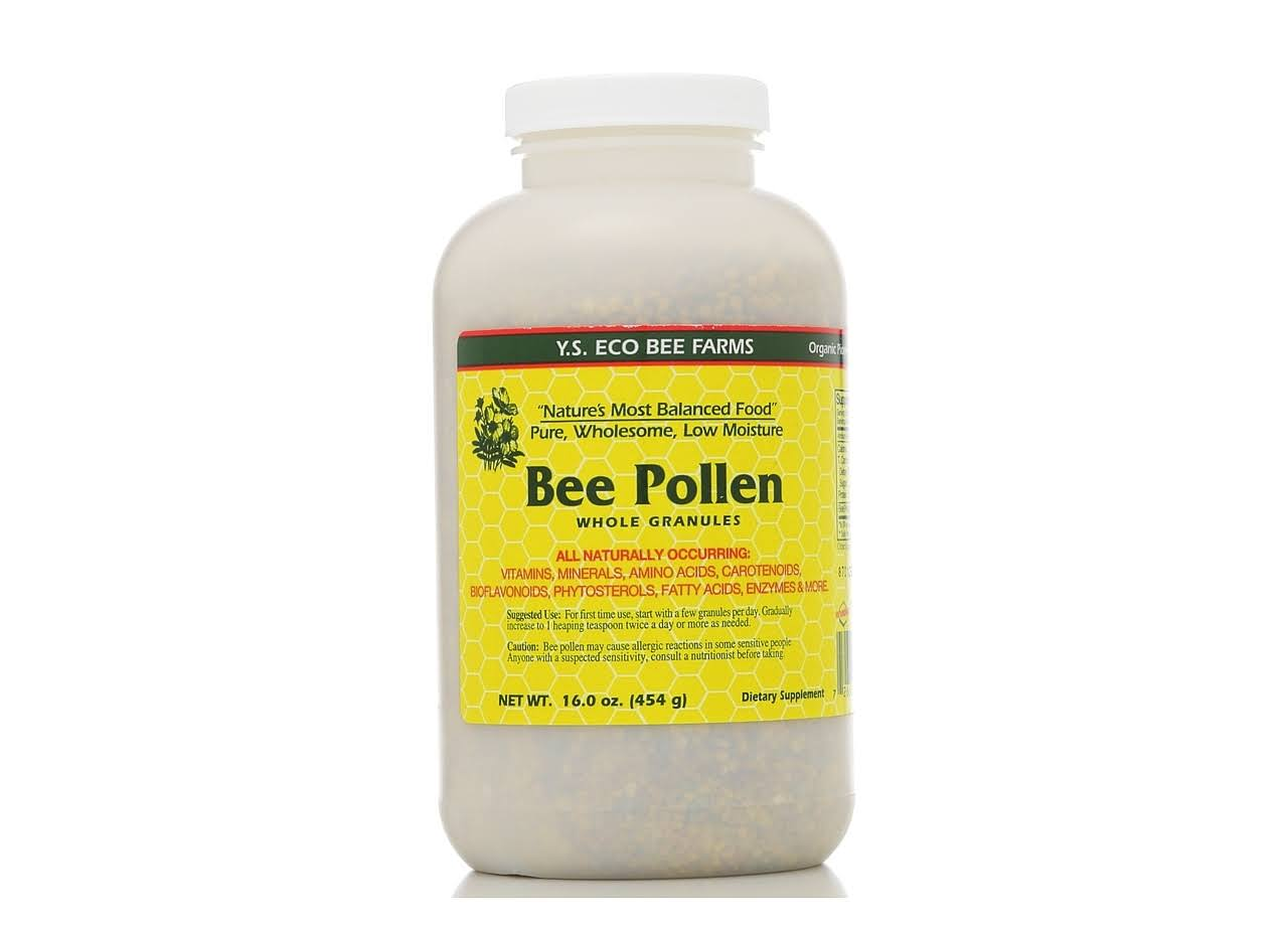 Ys Organic Bee Farms Low Moisture Bee Pollen Whole Granules - 16 Oz