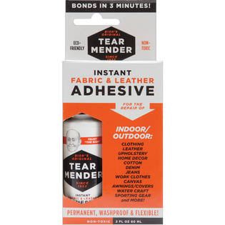 Tear Mender Instant Fabric & Leather Adhesive - 2oz