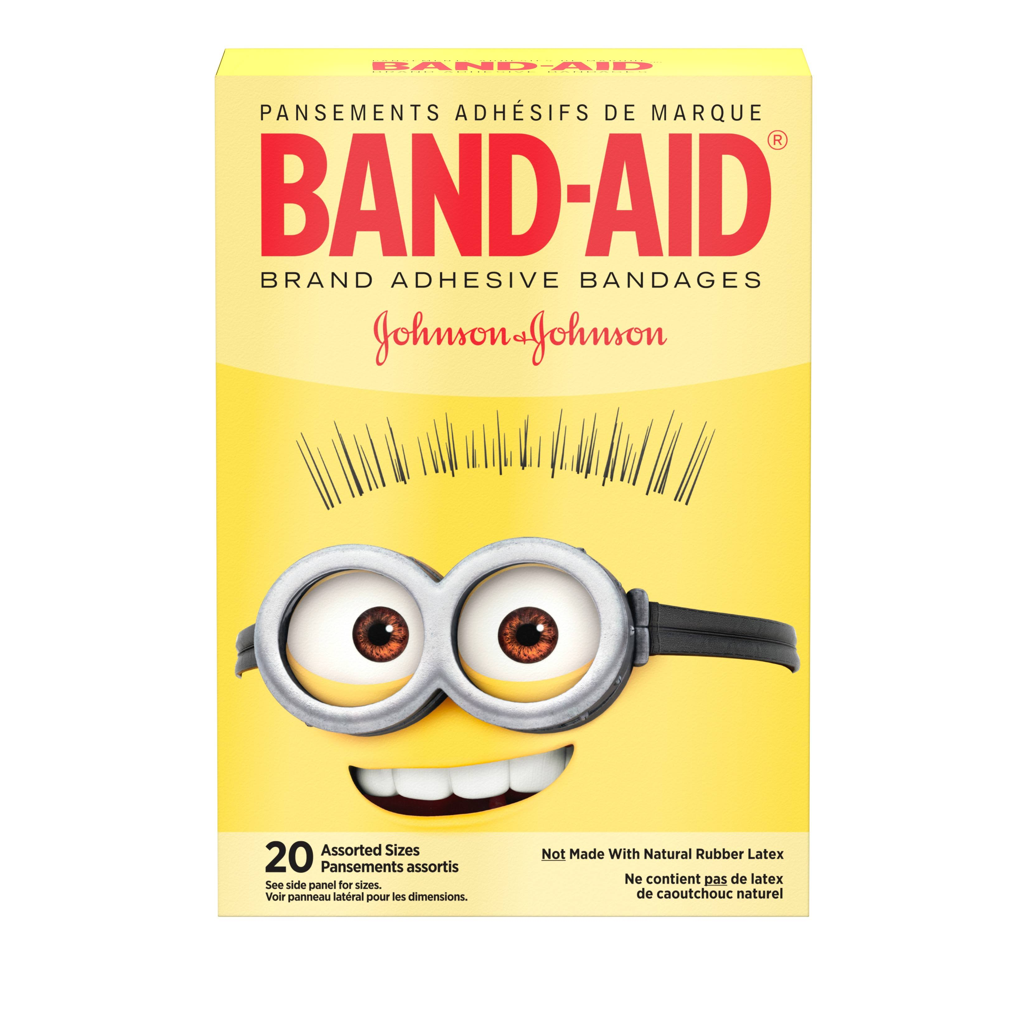 Band Aid Band-Aid, Minions, Assorted Sizes - 20 band-aids