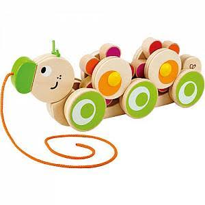 Hape Walk-A-Long Caterpillar Wooden Pull Toy