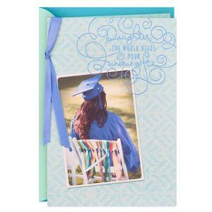 Hallmark Graduation Card, The World Needs You Graduation Card for Daughter