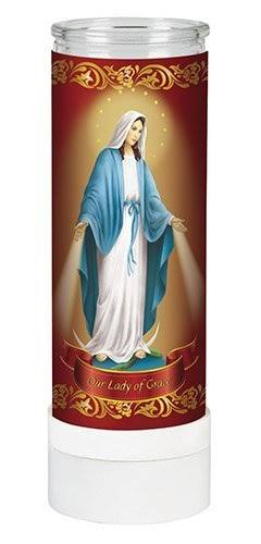Ambrosiana MR192 Our Lady of Grace Electric Candle