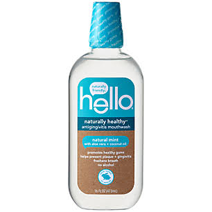 Hello Natural Healthy Mouthwash - Natural Mint, 16oz