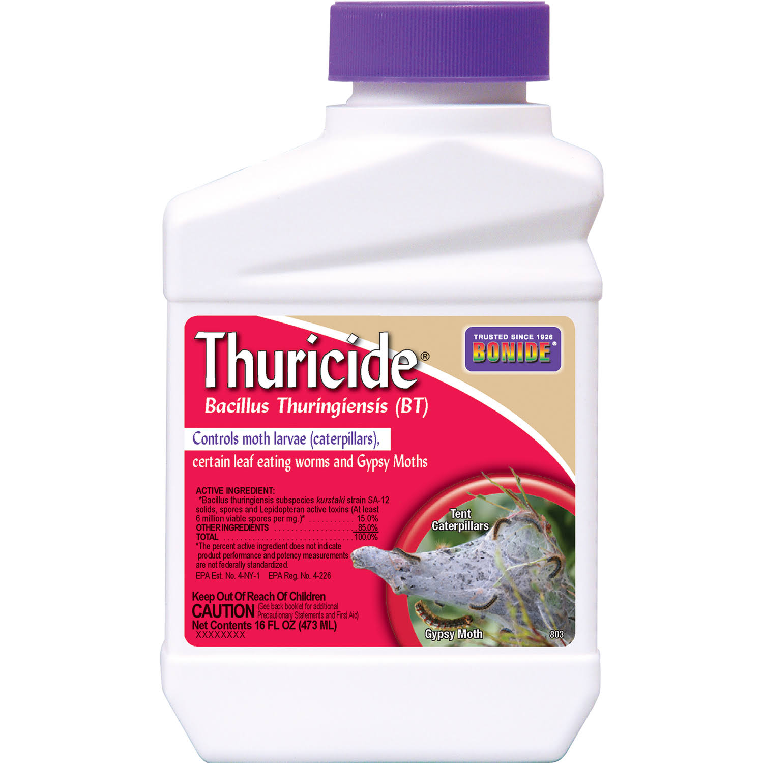 Bonide 803 Thuricide BT Insect Killer - 16oz